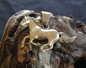 Vintage Silver Horse Necklace