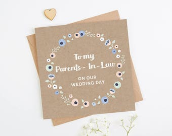 To My Parents-In-Law On Our Wedding Day