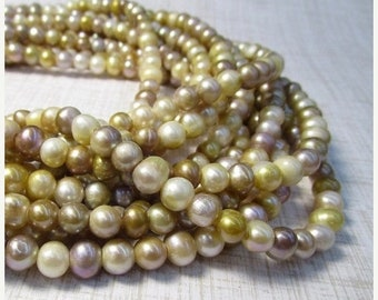 SALE 2mm Large Hole Pearl Beads 8mm Natural Pink Ivory Cultured 8mm , Natural Freshwater Pearls, Large Hole Beads 7mm