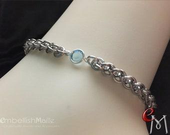 Birthstone Bracelet or Anklet,  Swarovski crystal jewelry, Swarovski crystal bracelet, Swarovski jewelry, Birthday jewelry, Bracelet/Anklet