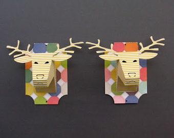 DIY -mini deer trophy head - SVG cutting file