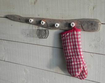 Drift wood wall coat rack