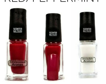 Two if by Scent Collection Red/Peppermint Scented Nail Polish