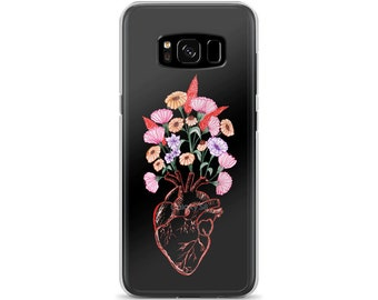 Anatomic Heart Floral Samsung Case