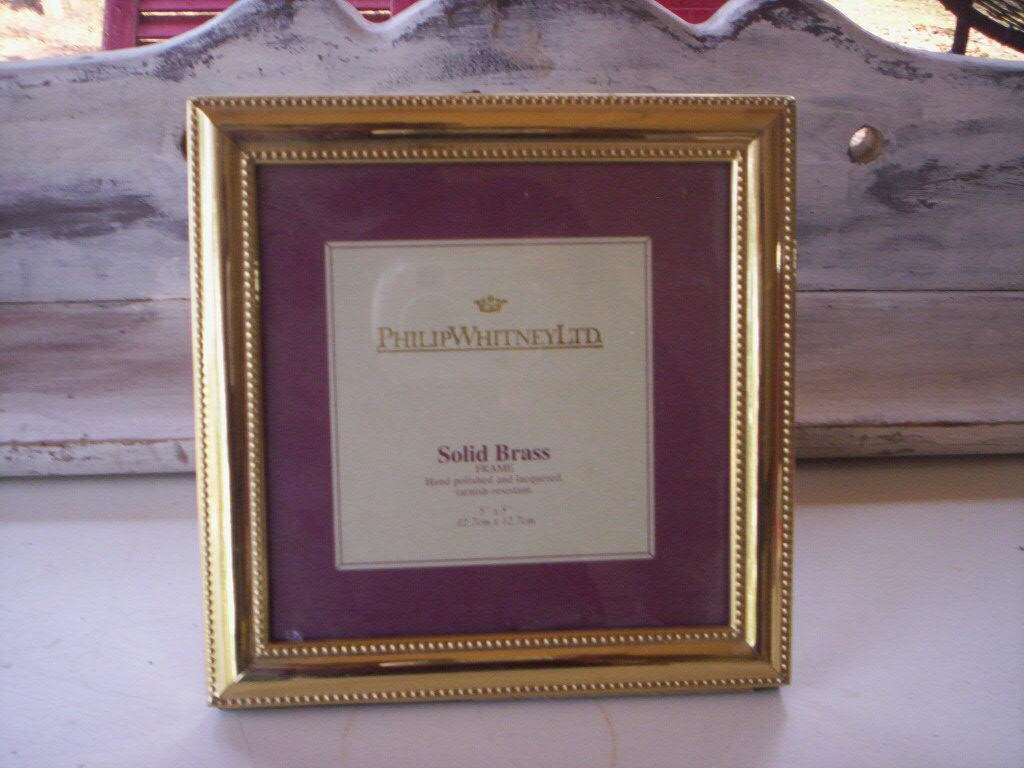 Andenken/Metall und Glas Rahmen/Small Picture Frame/Solid Messing ...