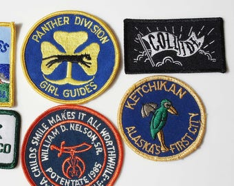 Collection of 7 Sew-on Patches
