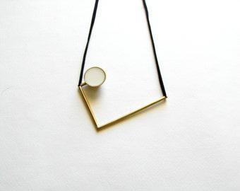 Greek Modern Necklace-Greek Inspired-Modern Gold Necklace-Gold Bib Necklace-Gold Geometric Necklace-Contemporary Jewellery-Modern Jewellery