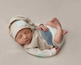 Newborn romper, newborn photograph, equipment, hair-band, Headband, photograph, Newborn props, outfit, cap, photo props, Props newborn