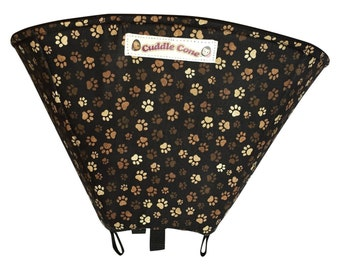Soft Elizabethan Collar for Dogs and Cats, Pet Recovery Cone - Paw Print