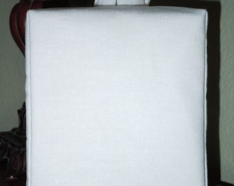 BLANK Essex White Tissue Box Cover with No Monogramming