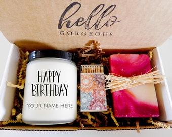 Happy Birthday Candle Soap Set Birthday Gift Box Birthday Gift for Friend  Gift For Sister Gift For Mom Gift for Best Friend Birthday Girl
