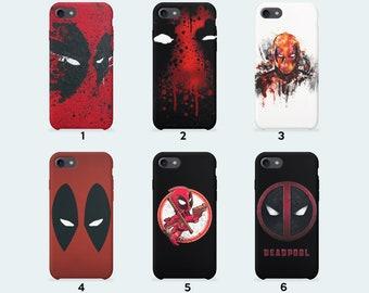 Marvel Deadpool Phone Case for iPhone X iPhone 8 Plus 7 Plus iPhone 6 6S Plus iPhone 5 5S SE Samsung Galaxy S7 Edge S8 Plus
