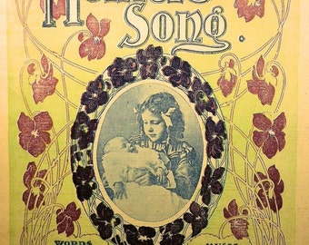 A Mother's Song Sunday Examiner Rare Vintage Sheet Music 1900