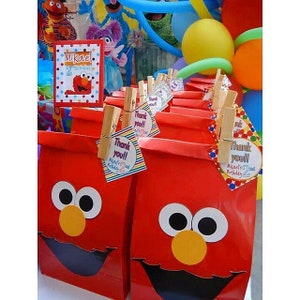 12 Elmo personalized goodies bags