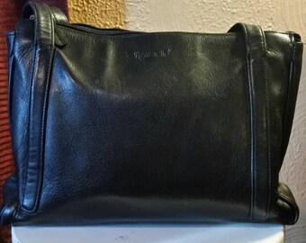 Vintage black leather Tignanello purse, handbag, shoulder bag.(Reserved for Debbie, please do not purchase, thanks.)
