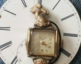 Watching time, antique watch dial,steampunk, porcelain dial.