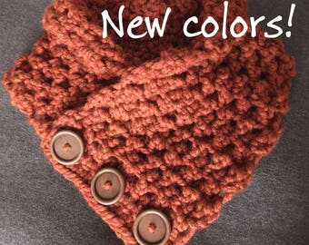 Crochet Cowl, Cowl Scarf, Ready to Ship, Knit Cowl, Birthday Gift, Chunky Cowl Scarf, Chunky Crochet Cowl, Bonfire Cowl, Triangle Scarf