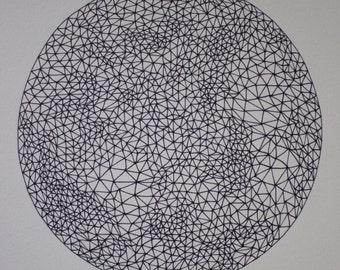 Triangle sphere original drawing #2