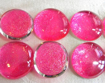 Pink Glass Gems Etsy
