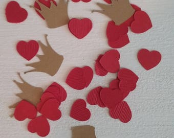 Queen of Hearts Crown and Heart Confetti-Alice in Wonderland