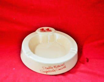Old ashtray ceramic white Mckay diameter 17 cm