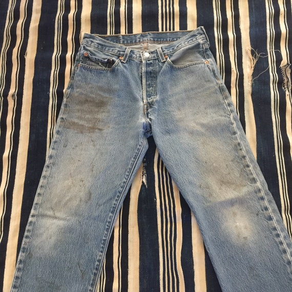Vintage 1990s Levis 501xx Size 30x30(Measured) Distressed by Etsy