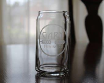 Beer Can Glass/Groomsmen Gift/Custom Beer Can Glass/