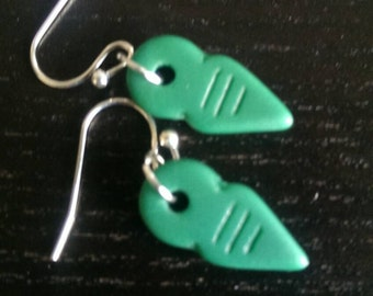 teal clay dangles