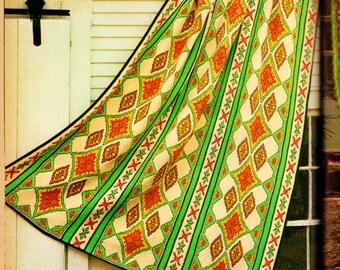 Crochet Afghan Vintage Crochet Pattern Instant Download