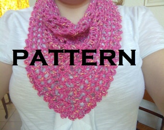 Diamond in the Rough Triangular Scarf/ Shawlette/ Shawl Pattern - With Permission to sell finished items
