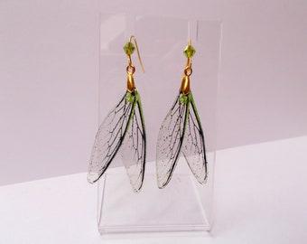 Dragonfly Wing women's girls dangle earrings