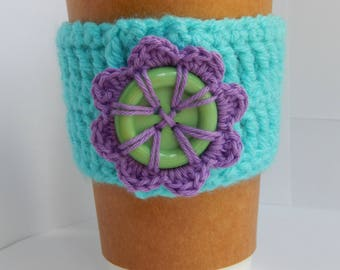 Flower Coffee Cup Cozy