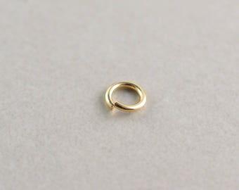 Or remplir anneau 5,8 mm lourd 18 Gauge ouverts pour charmes sur bracelet