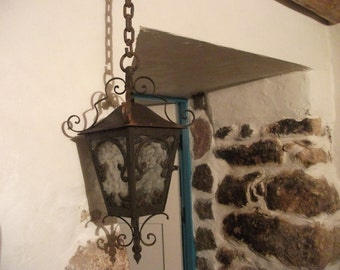 VINTAGE antique VICTORIAN hanging LIGHT, lantern.home decor