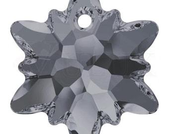 Swarovski 6748 Edelweiss Pendant  18 mm Crystal Silver Night