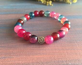 Agate bracelets, handmade bracelets, artisan jewelry, accessories, healing crystals, yoga, gemstone bracelets, namaste, natural stones,