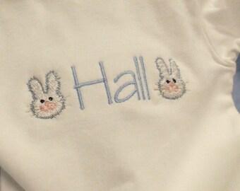 Monogrammed Bunny Bodysuit boy or girl