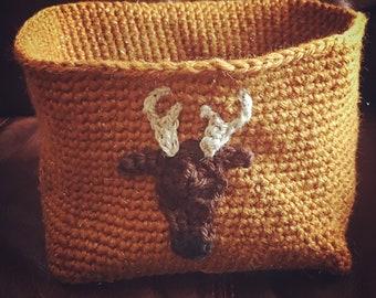 Crochet Deer Basket Pattern