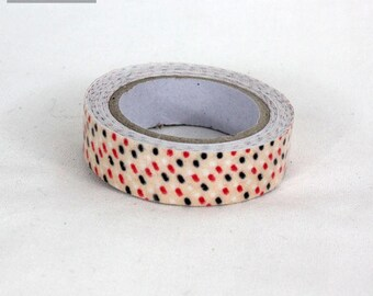 masking tape 15 mm coton pois beige
