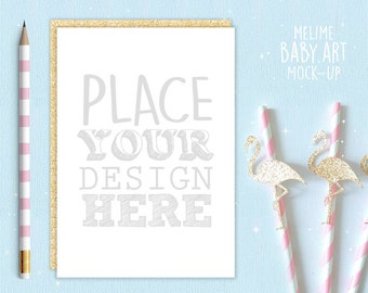 Square card mockup invite mockup gold party card mockup invitation mockup gold party invite mockups 5x7 sower party mockup gold flamingo scene mockup birthday invite mockup cardflamingo stopboris Image collections