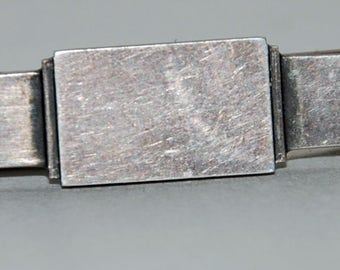 1970s era Danish Georg Jensen Modernist Sterling Silver Tie Bar or Clip -- Free US Shipping!