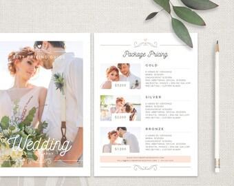 Wedding Photography Pricing Template - Wedding Pricing Template, Wedding Photography Pricing Guide, Wedding Price Guide List, Price List