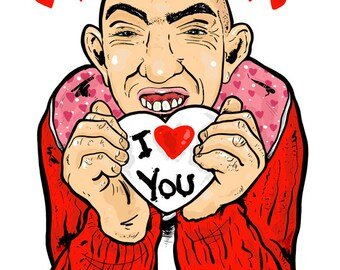 Pepper-I Love You- Greeting Card-Inspired by American Horror Story-Freak Show
