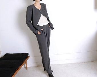 armani 90s asymmetrical suit