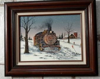Winter Locomotive by C Carson