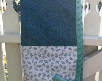 Baby Quilts,  Baby Blanket, Cotton/Minky Dot fabric, Handmade, One of a kind Baby Quilts