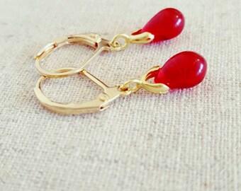 Red Earrings • Red Gold Earrings • Red Drop Earrings • Red Dangle Earrings • Red Gold Dangle Earrings • Red Gold Drop Earrings • Red Jewelry