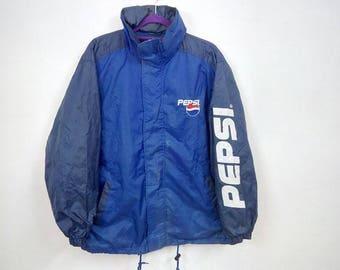 Sale!! Rare!!! Vintage Pepsi Windbreaker Jacket Size Large