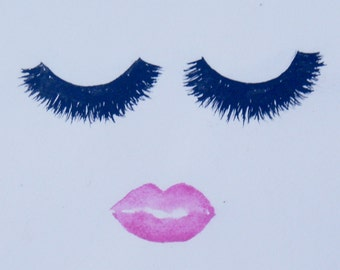 Chic Lashes Watercolor