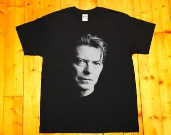David Bowie, tribute, blackstar, ziggy stardust - screen printed T-shirt